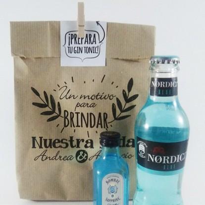 Detalle Boda Kit Gin tonic Botellita Bombay
